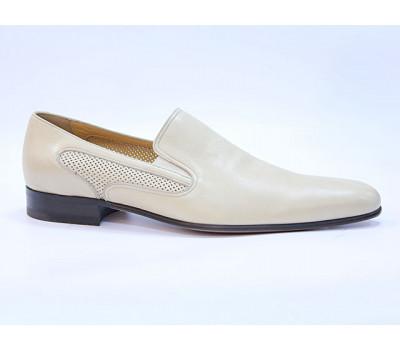 Туфли ROMIT кожаные бежевые 10957