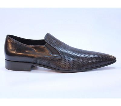 Туфли ROMIT кожаные темно-коричневые 11099