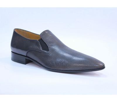 Туфли ROMIT кожаные серые 11099