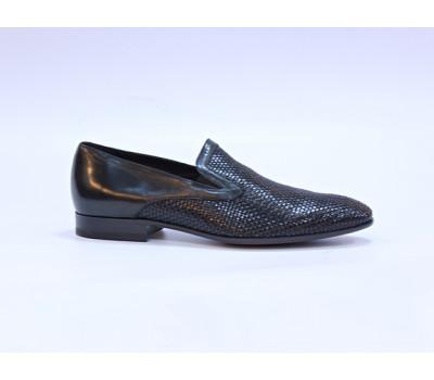 Туфли ROMIT кожаные черные 12772