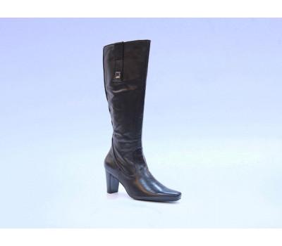 Сапоги осенние Hogl кожаные черные 4-106840
