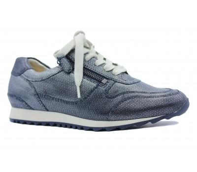 Кроссовки Hassia кожаные синие 5-301918