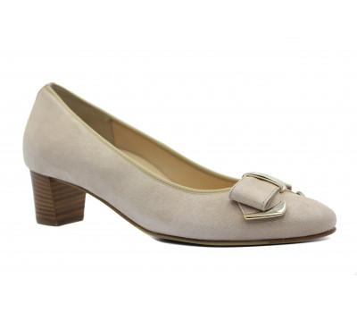 Модельные туфли Hassia бежевые из крека 1-304615