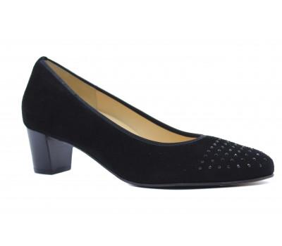 Модельные туфли Hassia замшевые черные 0-304642