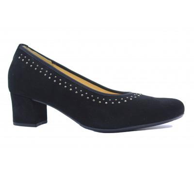 Модельные туфли Hassia замшевые черные 4-304916