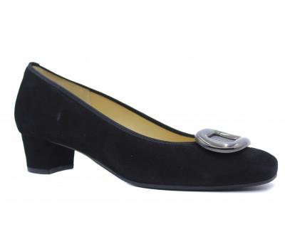 Модельные туфли Hassia замшевые черные 6-303622