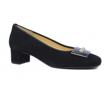 Модельные туфли Hassia замшевые черные 8-303622