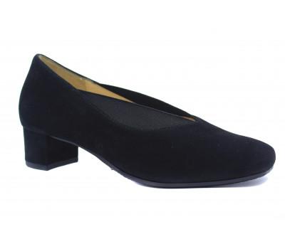 Туфли Hassia черные замшевые 8-303642