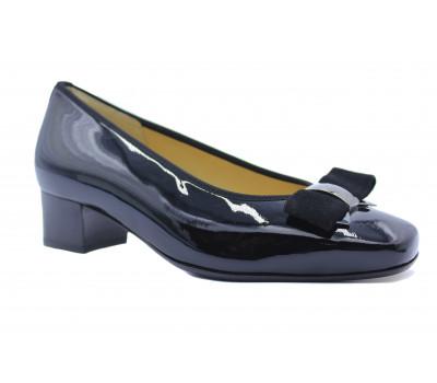 Модельные туфли Hassia из лакированной кожи черные 6-303304