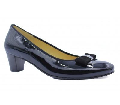 Модельные туфли Hassia из лакированной кожи черные 6-304614