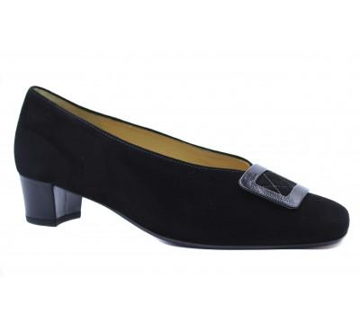 Туфли Hassia черные замшевые 4-303042