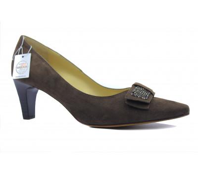Модельные туфли Peter Kaiser замшевые коричневые 67653-506