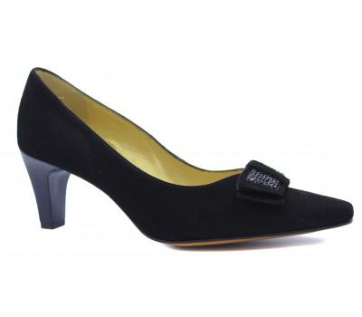 Модельные туфли Peter Kaiser замшевые черные 67653-508