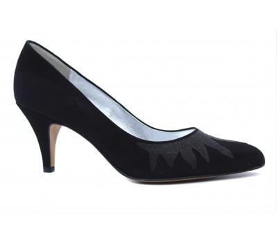 Модельные туфли Peter Kaiser замшевые черные 61445-065