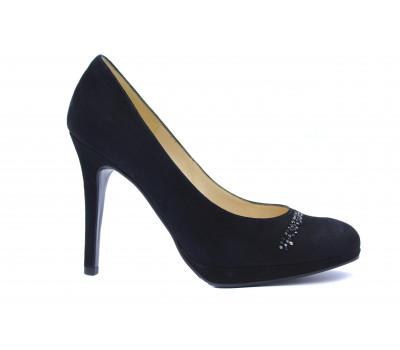 Модельные туфли Peter Kaiser замшевые черные 71253-240