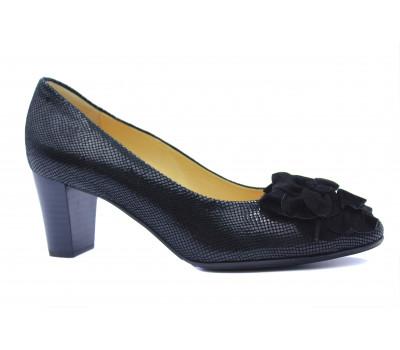 Модельные туфли Peter Kaiser из крека черные 52645-262