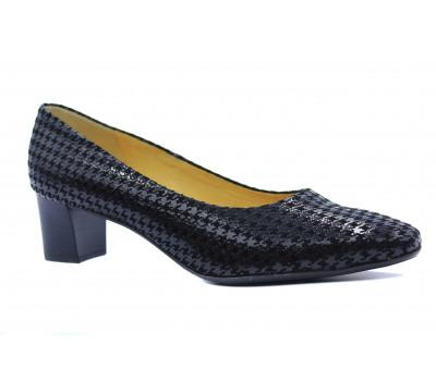 Модельные туфли Peter Kaiser из крека черные 51201-014