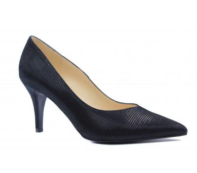 Модельные туфли Peter Kaiser из крека черные 76811-304
