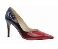 Модельные туфли Peter Kaiser из лакированной кожи комбинированного цвета
