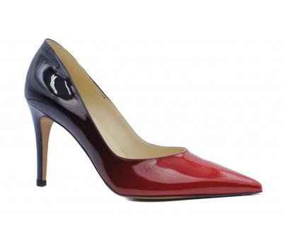 Модельные туфли Peter Kaiser из лакированной кожи красно-черные 65201-122
