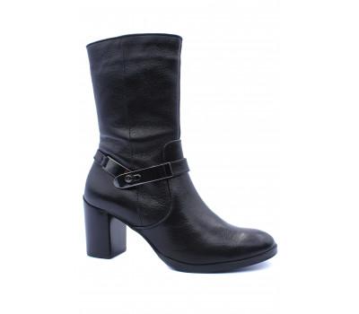 Ботильоны Hogl кожаные черные 4-106320