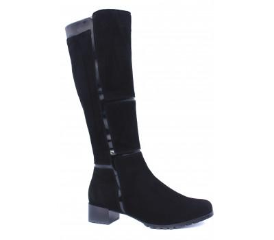Демисезонные сапоги  Hogl замшевые черные 0-103822