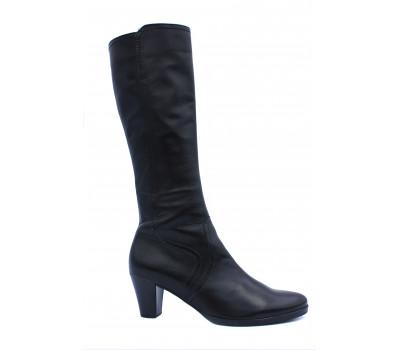 Демисезонные сапоги Gabor кожаные черные 15739