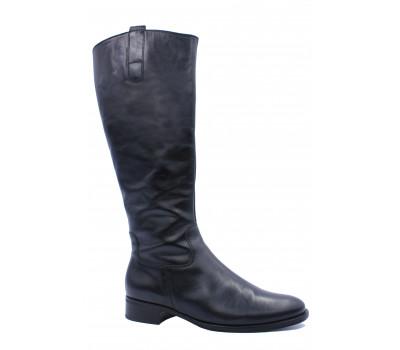 Демисезонные сапоги Gabor кожаные черные 71638