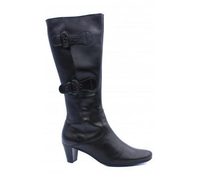 Демисезонные сапоги Gabor кожаные черные 75678