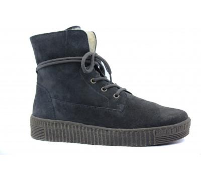 Зимние ботинки Gabor замшевые серые 93732