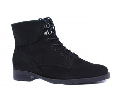 Ботинки Gabor из нубука черные 52775
