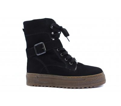 Зимние ботинки Gabor замшевые черные 33715