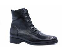 Демисезонные ботинки Gabor из лакированной кожи черные