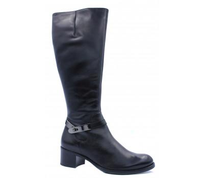 Сапоги осенние Hogl кожаные черные 4-104930