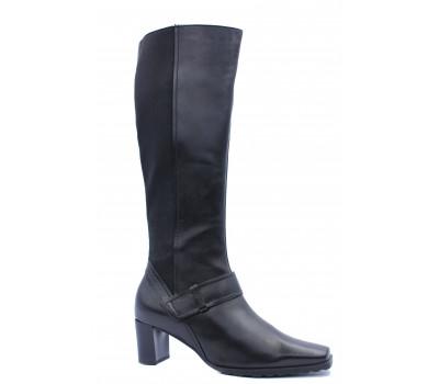 Сапоги осенние Hogl кожаные черные 6-105670