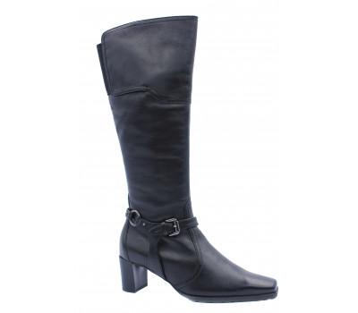 Демисезонные сапоги осенние Hogl кожаные черные 6-105660