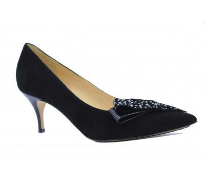 Модельные туфли Hogl замшевые черные 0-106092