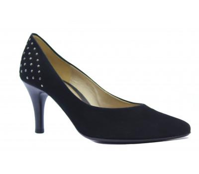 Модельные туфли Gabor замшевые черные 15215