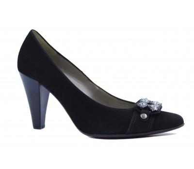 Модельные туфли Gabor из нубука черные 25242