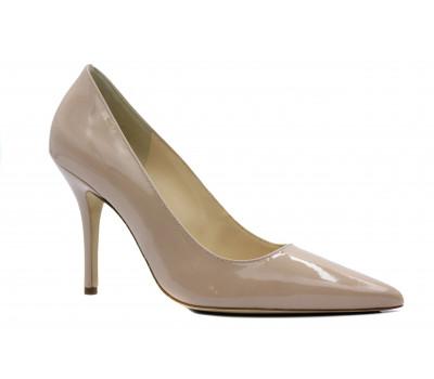 Модельные туфли Hogl из лакированной кожи бежевые 9-108404