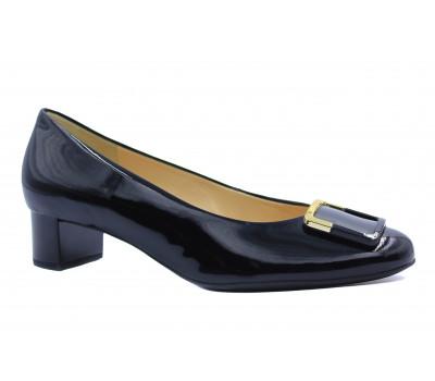Модельные туфли Hogl из лакированной кожи черные 0-103044