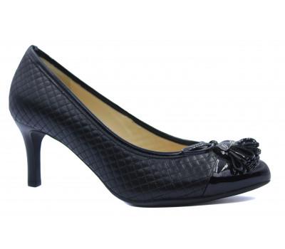 Модельные туфли Hogl из наппы черные с деталями из лакированной кожи 4-106081