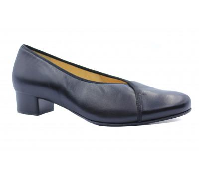 Туфли Hassia черные кожаные 9-303420