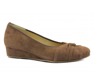 Туфли Hassia замшевые коричневые 3-303512