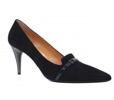 Демисезонные туфли Fabiani замшевые черные 4138