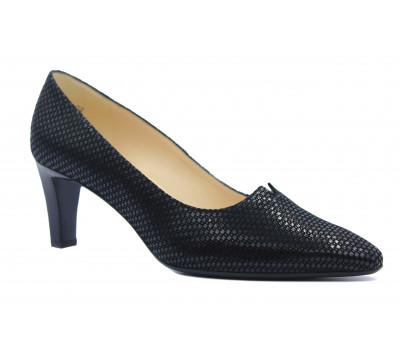 Туфли Peter Kaiser из крека черные 68103-700