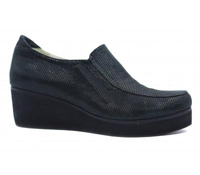 Туфли осенние Tuffoni из крека черные 432