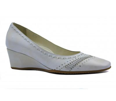 Туфли Fabiani кожаные светло-бежевые 6143