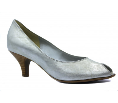 Модельные туфли Gabor из лакированной кожи серые 61640