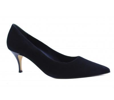 Модельные туфли Hogl замшевые черные 6-106202